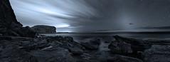 dawn in the dark (donnnnnny) Tags: sea rock dawn mono sydney australia northernbeaches bangalley dawnpanorama
