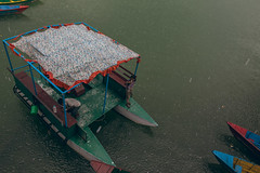 (Alek S.) Tags: nepal water rain boat pokhara