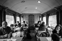 Restaurangvagn, interir 2016-05-21 (Michael Erhardsson) Tags: interir 2016 tg svartvitt jrnvg tgresa restaurangvagn veterantg skj 20160521