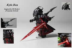 Artwork Inspired: Kylo Ren (TheCampervanTom) Tags: painting star artwork lego ren wars custom kylo