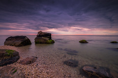 Colors of the night (djrocks66) Tags: sky ny color beach nature water stone clouds sunrise outdoors island photography bay sand rocks long fuji dunes shore susnet waterscapes landscpaes oceanscapes xt1