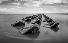 Concrete Groynes infrared (cathbooton) Tags: longexposure sea sky seascape water clouds canon landscape pattern tide tripod wideangle structure coastal infrared filters canoneos wirral newbrighton 18mm merseyside canonusers leefilters concretegroynes