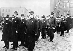 Policemen in Seattle wearing masks, made by the Red Cross, during the influenza epidemic, December 1918 [600  421] #HistoryPorn #history #retro http://ift.tt/1sDW1vt (Histolines) Tags: seattle red history wearing by during december cross retro made masks 600 timeline influenza 1918 policemen epidemic 421  vinatage historyporn histolines httpifttt1sdw1vt