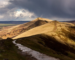 The Wet Ridge (matrobinsonphoto) Tags: winter light cloud sun sunlight snow storm wet beautiful weather hail shower hope golden back spring view cross path hill great dramatic vale ridge valley hour tor lose mam edale hollins ryside