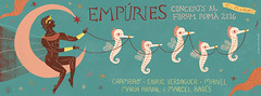 Empries: Concerts al Frum rom 2015 (Romina Mart + Morad Abselam) Tags: music moon festival illustration seahorses manel ancientgreek mediterranian ancientroman empries chambao enricverdaguer mariaarnalimarcelbags
