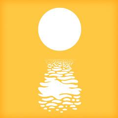 Sun on Sea Print (scratchmark) Tags: sun sea ocean water sparkles reflection circle heat yellow kurtlightner art konst print gothenburg sweden