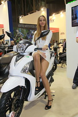 eicma model (themax2) Tags: girl highheels legs milano upskirt miniskirt pantyhose nylon 2014 eicma
