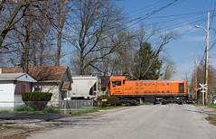 NC SIND 103-9 SellersburgIN 3-30-09 (CSX4500) Tags: railroad train trains sind cummins s2 alco shortline s2m repowered southernindianarailway