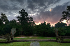 Angkor Wat, east entrance (Josh Haftel) Tags: sunrise asia cambodia angkorwat countries slideshow editme viveza cep4
