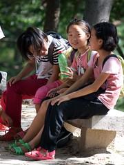 Kaesong Girls (Joseph A Ferris III) Tags: park girls northkorea dprk kaesong