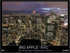 BIG APPLE - NYC  Top of the rock - Rockefeller center (pharoahsax) Tags: world new york nyc usa get building colors rock night skyscraper canon lights state nacht top manhattan center empire aussicht rockefeller topoftherock lichter hochhaus plattform staaten nachtbild vereinigte 40d topoftherocknyc pmbvw worldgetcolors