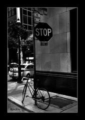 stop sign (*bomben*) Tags: street city people urban bw white toronto black 35mm photography photo nikon photos nikkor 18 d90 3556 18105mm