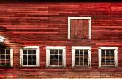 Red Barn (janusz l) Tags: janusz leszczynski red barn farm building wooden boards windows textures old hdr composition grain traditional workmanship craftsmanship pride chilliwack rosedale bc dec42011200031