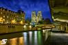Notre-Dame Christmas Edition (A.G. Photographe) Tags: blue sunset paris france nikon notredame bleu cathédrale ag bluehour nikkor dame français hdr parisian anto couchédesoleil photographe xiii parisien 2470mm28 heurebleue d700 antoxiii hdr5raw agphotographe