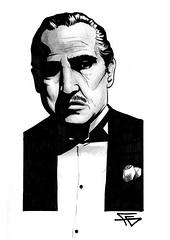 Godfather (Flavio Gatti) Tags: cinema don brando godfather marlon desenho corleone poderoso chefo