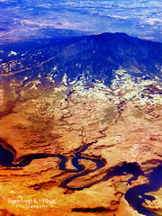 Navajo Mountain (Sandeep K Bhat) Tags: arizona mountain plane river utah nikon colorado flight grand aeroplane canyon aerial navajo escalante lakepowell glencanyon s52 denvertosantabarbara