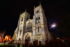 The Moon and St Margaret (jammo s) Tags: moon cold church tripod norfolk fullmoon minster manfrotto kingslynn stmargaret sigma1020mm urbanchurch jammo canoneos60d