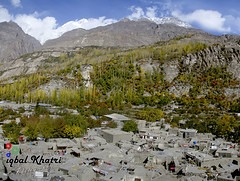 Altit Village In Autumn (Iqbal.Khatri) Tags: travel autumn pakistan nature colors t landscape highway song autumncolors valley destination karakoram kkh hunza nagar balti gilgit iqbal altit baltistan khatri northpakistan travelandplaces autumninthevalley hunzanagar autumninhunza gettyimagespakistanq3 valleyofbeauty