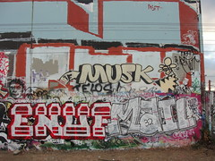 MUSK / GIRAFA / ENUF / MAIL (Same $hit Different Day) Tags: graffiti bay mail south if musk girafa enuf