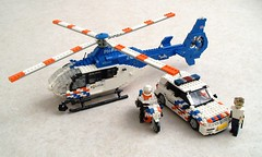 Dutch Police (Mad physicist) Tags: netherlands vw volkswagen gold lego police motorcycle ec135 politie
