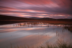 Loch Ceo Glais Dusk. (Gordie Broon.) Tags: longexposure winter nature water reflections reeds landscape geotagged photography scotland scenery alba scenic escocia hills inverness schottland ecosse invernessshire cloudreflections scottishhighlands torness dores inverfarigaig northernscotland canoneos7d lochceoglais highlandcapital bestcapturesaoi coth5 gordiebroon