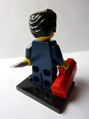 Mechanic (Back) (bigospedros) Tags: lego series6 collectableminifigs