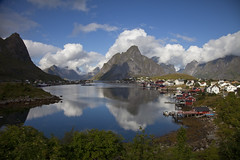 Reine (Stephen P. Johnson) Tags: reflection norway clouds lofoten reine 20110824020