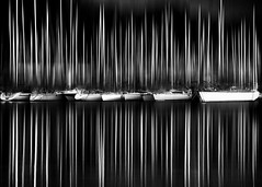 Sailboat dream (Thomas Leth-Olsen) Tags: bw harbour motionblur sailboats masts antibes