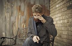 Take5. ([the] Printer) Tags: portrait coffee minnesota canon bench alley sitting drink cigarette smoke coat drinking minneapolis coffeeshop smoking sit 50mmf14 spyhouse 5dmkii