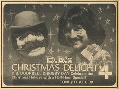 D.B.'s Christmas Delight TV Guide Ad (Neato Coolville) Tags: stlouis 1978 1970s channel4 kmox bobday localkidsshow dbsdelight dbdoorbell