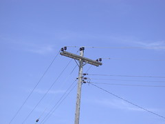 Angle pole - old power line [Explored] (NDLineGeek) Tags: