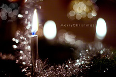 MCE (MR photography.) Tags: christmas blur tree candle dof bokeh text 14 font merry 50 decorated