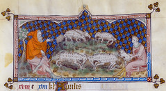 Signs of Zodiac: Ram or Aries (petrus.agricola) Tags: london march library mary medieval illuminated queen british zodiac ram month manuscript aries labours psalter