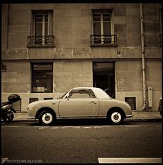 Paris061 (T. Scott Carlisle) Tags: auto paris classic hardtop film car trix convertible hasselblad tsc 80mm tscottcarlisle tscottcarlislecom