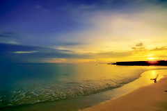 #850C8196- The waves bring me to the sunset (Zoemies...) Tags: sunset beach waves balikpapan melawai zoemies