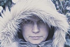 1/366 - Jen (beeblebear) Tags: blue winter cold girl narnia hood parka project365 project366
