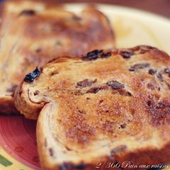 2/366 Pain aux raisins (judith&sevigny) Tags: food breakfast bread pain toast plate butter nourriture raisin assiette déjeuner beurre