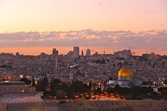 Dome of the Rock from The Mount of Olives (Eric Demarcq) Tags: canon eos evening israel view jerusalem 600 nightview oldcity themountofolives ericdemarcq
