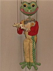 Frederick Frog (mrramsey37) Tags: toy puppet frog toad thewindinthewillows marionette mrtoad pelhampuppets