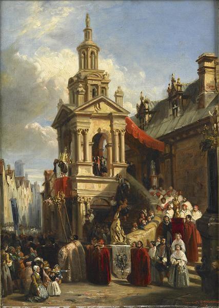 BOULANGER Clément, La Procession de la gargouille, 1837