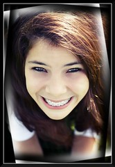 Cheese! :) (TheMalni Photography) Tags: portrait girl smile canon happy braces headshot brunette 50mm18 niftyfifty canon450d themalni dinablaszczak