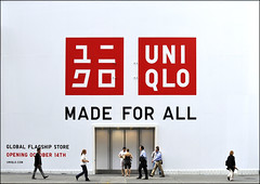 Fifth Avenue, Uniqlo ... (Dreamer7112) Tags: uniqlo fifthavenue midtown ny nyc manhattan newyork newyorkcity people streetphotography acrossthestreet red white walkin walking scaleplay ad ads advertising advertisement advertisements storefront shopfront shopfronts madeforall nikon d300 nikond300 explore street brand store globalflagshipstore flagshipstore underconstruction humaningeometry facade building front 666fifthavenue