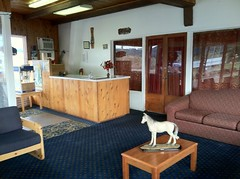 Ranch Motel Rice Hill Oregon Lobby (ac_or) Tags: oregon ricehill ranchmotel vintagemotel uniquemotel tipimote