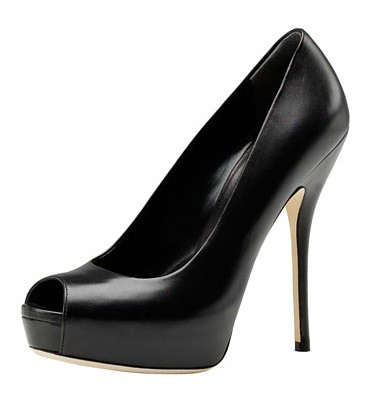 Gucci-Sofia Pump-Black Peep Toe Pump