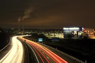 A81 at  night