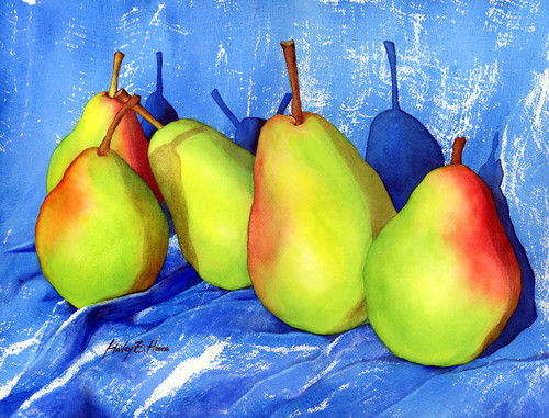 Green Pears (Making fabric textures)