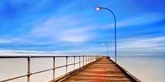 Altona Pier, Altona Beach [Explored] (saahmadbulbul) Tags: urban landscape naturallight australia melbourne cannon altona gettyimages stockphoto landscapephotography altonabeach altonapier salahuddinahmadphotography cheapstockphoto sellphotosonline australianstockimages
