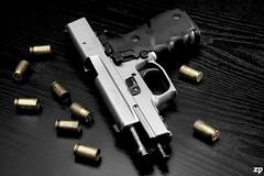 """EMPTY"" (ZORIN DENU) Tags: nikon gun 45 weapon pistol guns sig weapons bangbang nikonsb600 sigsauer 45acp gunsammo nikond90 p220st zorindenu"
