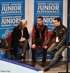Christophe Belley (Melanie Heaney) Tags: men sports action coaching figureskating kissandcry anniebarabé 2011canadians christophebelley