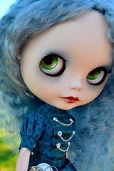 gatsby (cybermelli) Tags: hat hair grey doll gray mohair blythe custom takara rbl zaloa modmoiselle